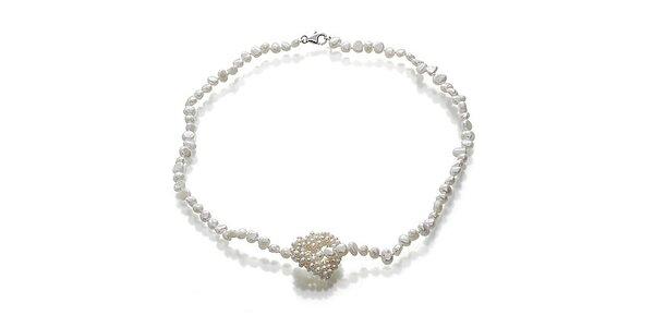 Náhrdelník z bielych perlí Orchira