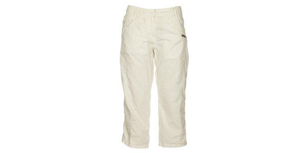 Výpredaj dámskeho outdoorového oblečenia – všetko skladom. Táto kampaň už  skončila. Dámske biele capri nohavice Loap 209fdefb4ef
