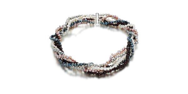 Barevný perlový náhrdelník Orchira