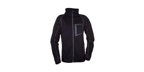 Pánska čierna fleecová bunda Envy