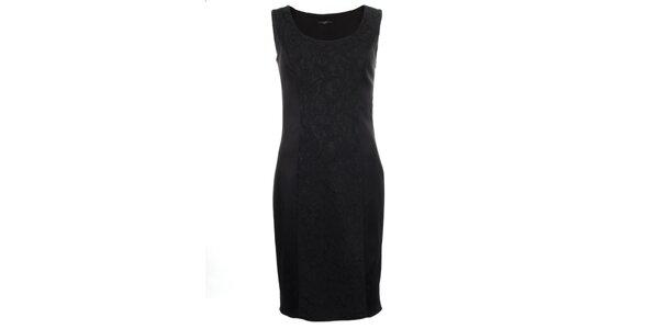 Dámske čierne púzdrové šaty bez rukávov Pietro Filipi