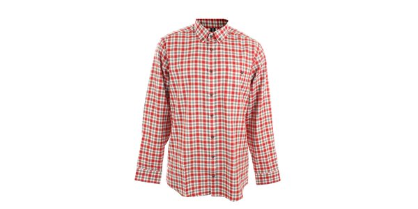 Pánska červeno kockovaná košeľa Pietro Filipi