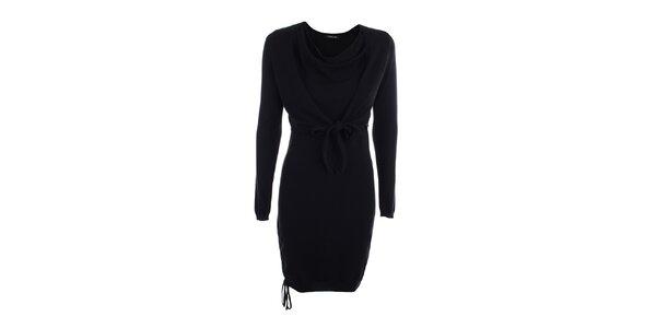 Dámske jednoduché čierne šaty Phard