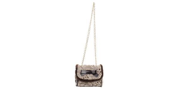 Dámska malá kabelka s kvetinovým vzorom a mašľou Phard