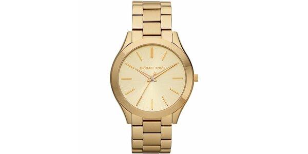 Dámske pozlátené hodinky s okrúhlym púzdrom Michael Kors