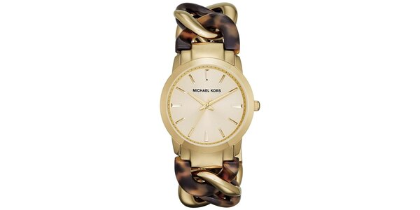 Dámske hodinky s originálnym dvojfarebným remienkom Michael Kors
