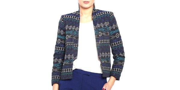 Dámske čierno-modré sako Vera Ravenna