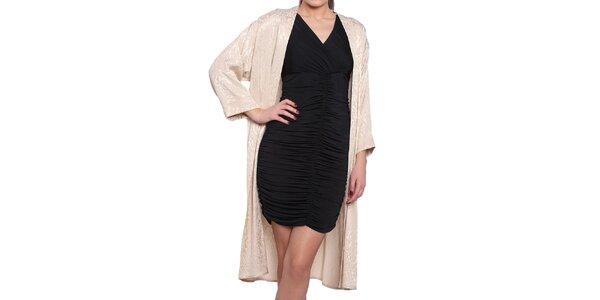 Dámsky krémový ľahký kabát s elegantným vzorom Vera Ravenna