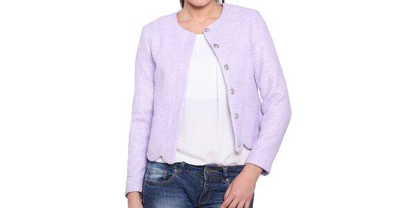 Dámsky krátky kabátik v lila odtieni Vera Ravenna