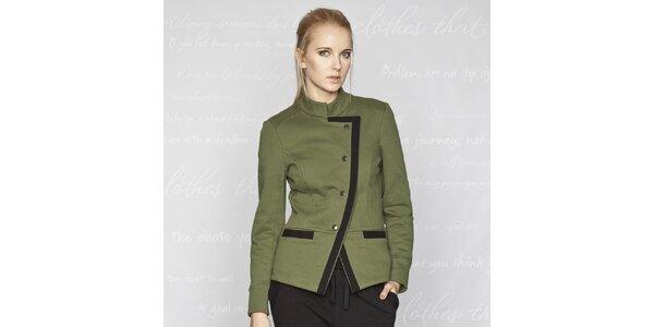 Dámsky zelený kabátik Paphia