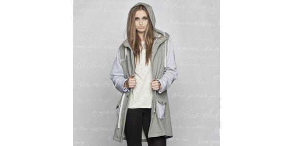 Dámsky bavlnený kabát Paphia - šedý