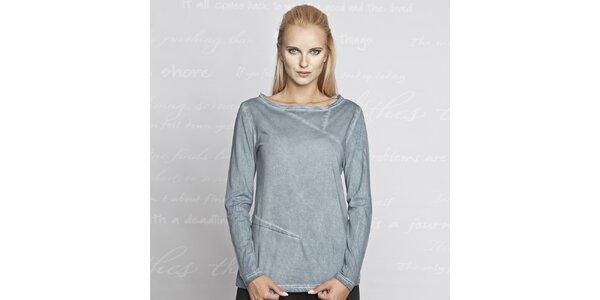 Dámske modré tričko s dlhým rukávom Paphia