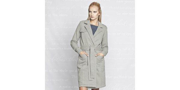 Dámsky bavlnený kabátik Paphia - šedý