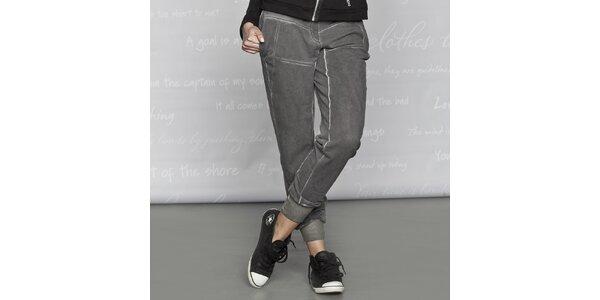 Dámske bavlnené nohavice Paphia - šedé