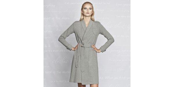 Dámsky šedý kabátik Paphia - bavlnený