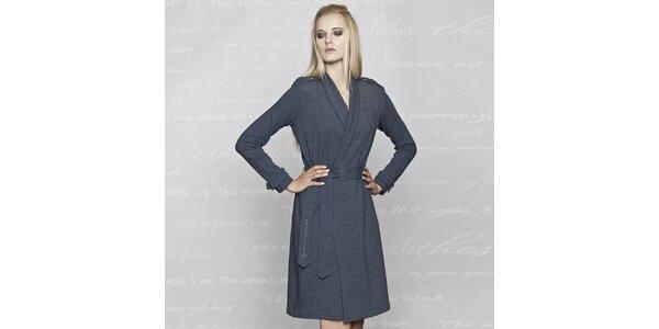 Dámsky modrý kabátik Paphia - bavlnený