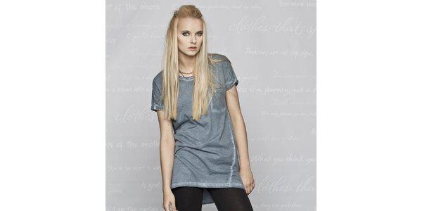 Dámske modré tričko s krátkym rukávom Paphia
