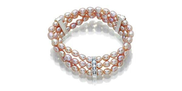 Dámsky ružovo-fialový perlový náramok Orchira