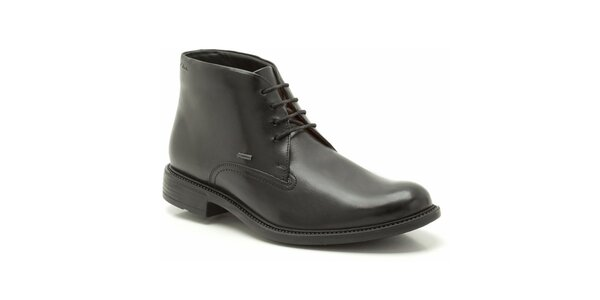Pánske členkové čierne kožené topánky Clarks