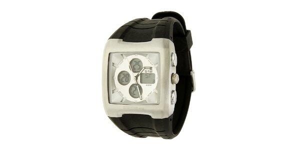 Unisexové čierno-strieborné hodinky RG512