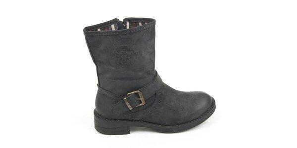 Dámske čierne topánky s prackou Destroy