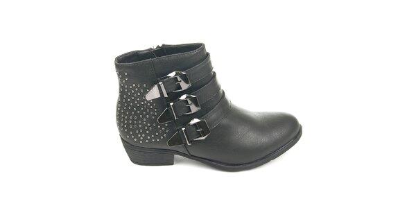 Dámske čierne topánky s cvočkami Destroy