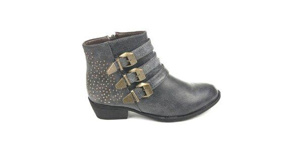 Dámske šedé topánky s cvočkami Destroy