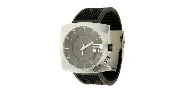 Unisexové čierno-strieborné analogové hodinky RG512