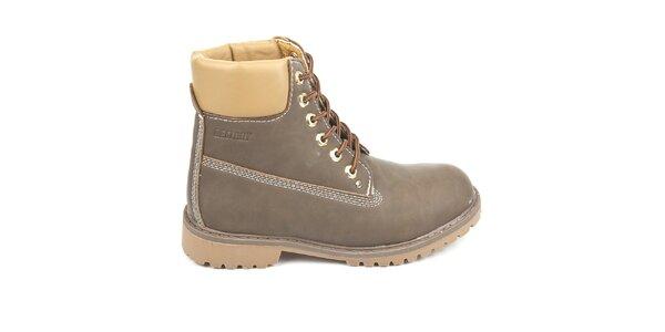 Dámske hnedé členkové topánky Destroy