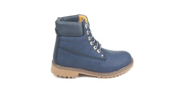 Dámske modré členkové topánky Destroy