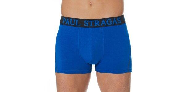 Set čiernych a modrých pánskych boxeriek Paul Stragas