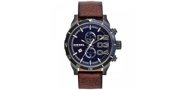 Pánske oceľové hodinky s modrým ciferníkom Diesel