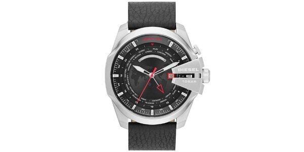Pánske masívne hodinky s čiernym remienkom Diesel