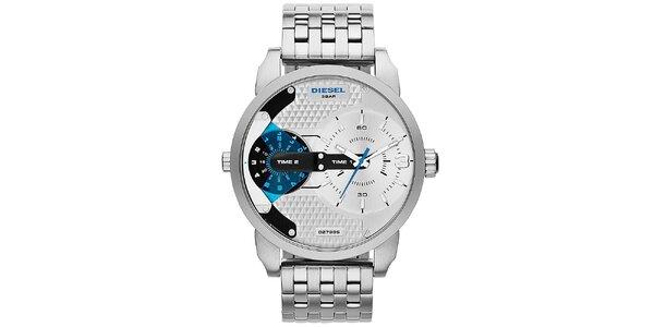 Pánske oceľové hodinky v striebornej farbe Diesel