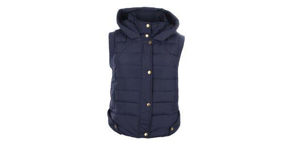 Dámska tmavo modrá prešívaná vesta SMF Jeans