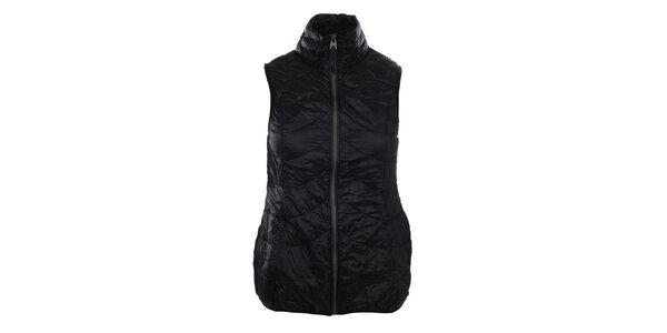 Dámska čierna prešívaná vesta so stojáčikom SMF Jeans