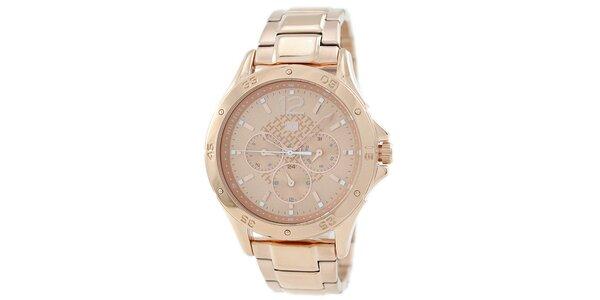 Dámske jemno ružové oceľové hodinky Tommy Hilfiger