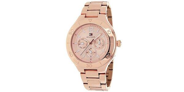 Dámske ružové oceľové hodinky Tommy Hilfiger