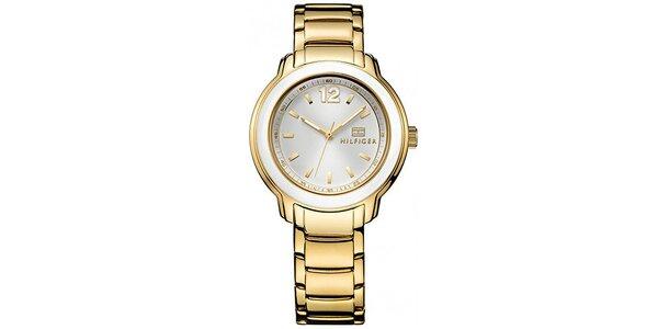 Dámske pozlátené hodinky Tommy Hilfiger