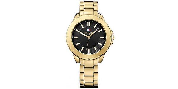 Dámske pozlátené oceľové hodinky Tommy Hilfiger