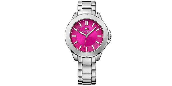 Dámske oceľové hodinky s ružovým ciferníkom Tommy Hilfiger
