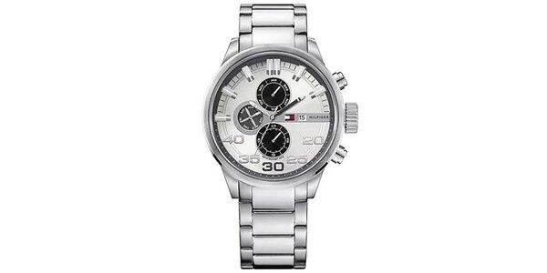 Pánske oceľové hodinky s guľatým ciferníkom Tommy Hilfiger