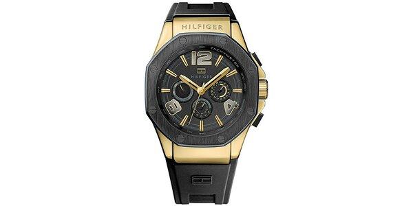 Pánske antracitové hodinky so silikonovým remienkom Tommy Hilfiger