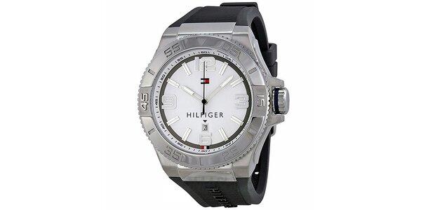 Pánske hodinky s čiernym remienkom Tommy Hilfiger