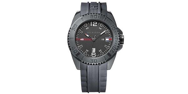 Pánske čierne športové hodinky Tommy Hilfiger