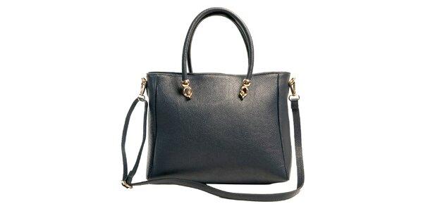 Dámska tmavomodrá priestranná kabelka z kože Joana and Paola