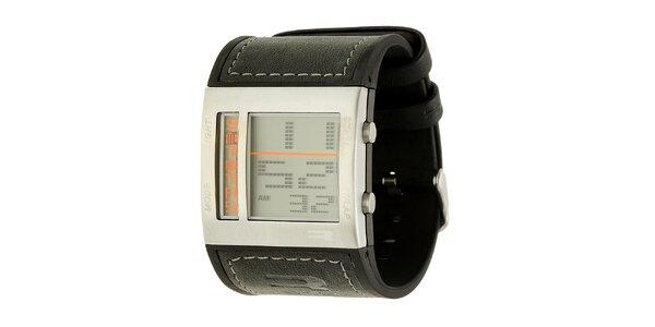 Pánske čierne digitálne hodinky RG512