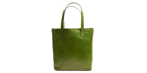 Dámska zelená obdĺžniková kabelka Joana and Paola