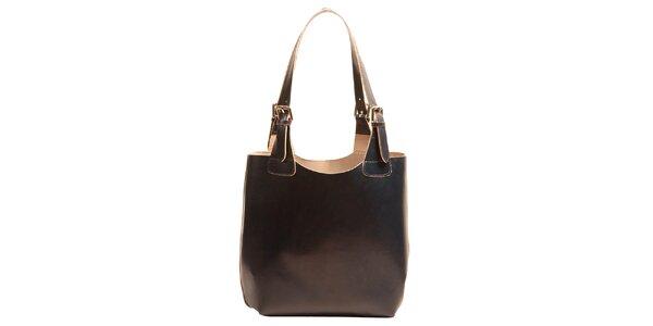 Dámska kožená kabelka v tmavo modrej farbe Joana and Paola