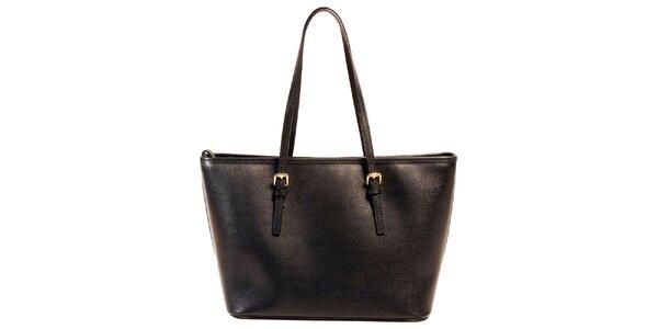 Dámska čierna kabelka z kože Joana and Paola